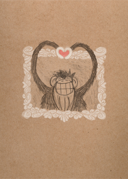 heart-ape card