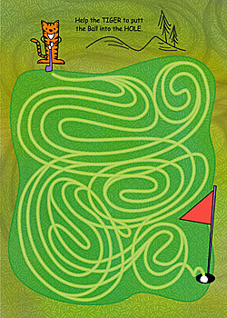 tiger golf card
